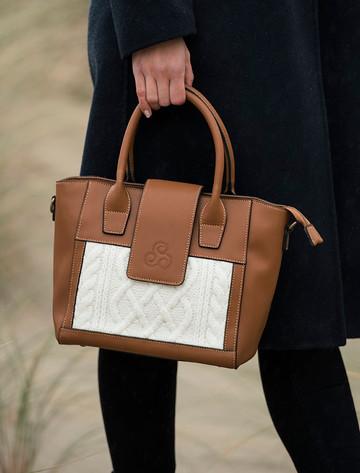 Leather & Merino Wool Tote Bag