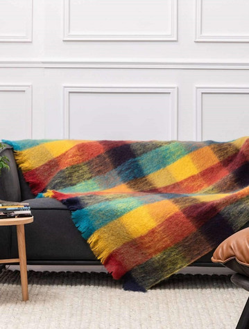 Mohair Throw - Kingfisher Multi-Color