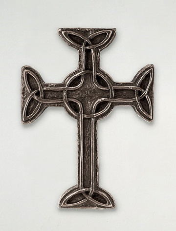 Irish Bronze Celtic Cross Of Faith