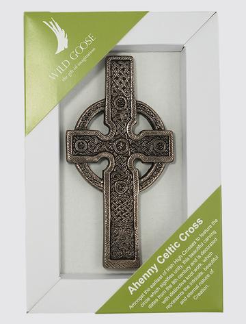 Irish Bronze Ahenny Celtic Cross