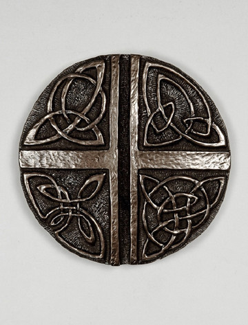 Irish Bronze Celtic Love Cross