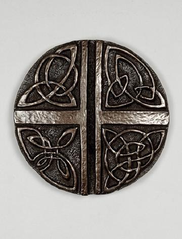 Irish Bronze Celtic Love Cross