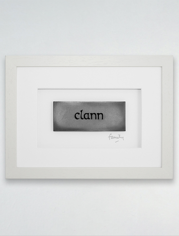 Framed Clann - (Family) Bronze Plaque