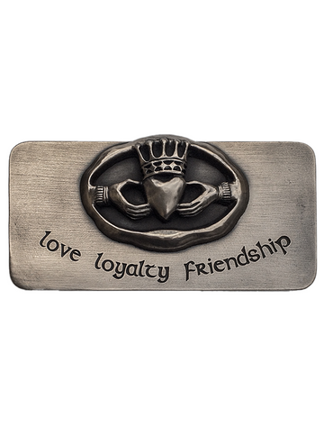 Irish Bronze Claddagh Wall Plaque