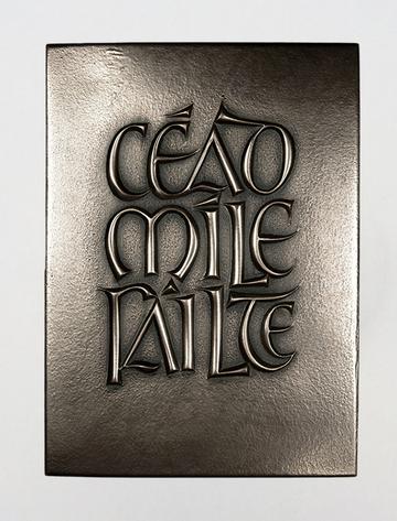 Irish Bronze Céad Mílte Fáilte Plaque