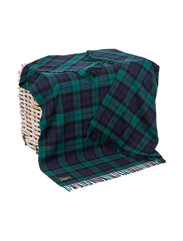 Lambswool Throw - Blackwatch Plaid