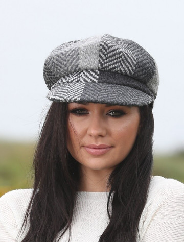 Ladies Wool Peaky Blinders Hat - Donegal Grey