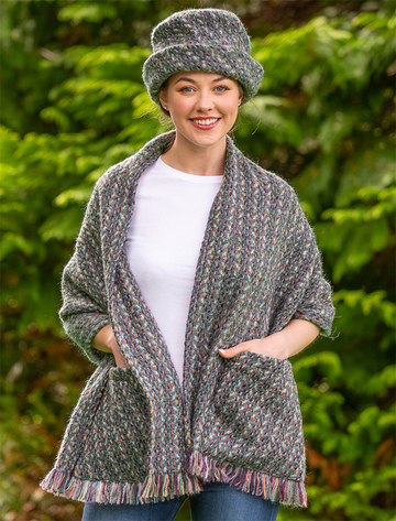 Wool Pocket Stole - Connemara Loden