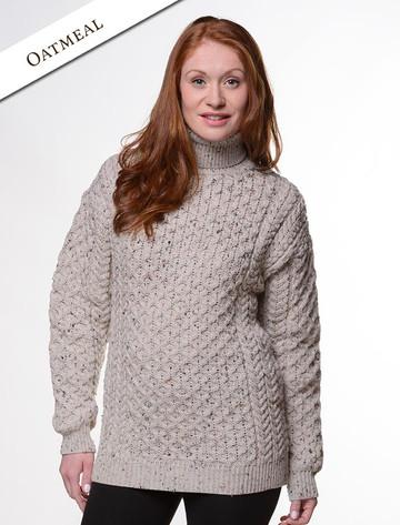 Merino Wool Turtleneck Sweater - Oatmeal