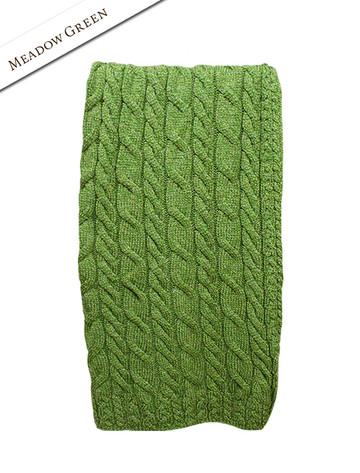 Super Soft Aran Throw - Meadow Green