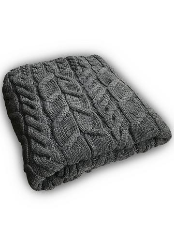 Super Soft Aran Throw - Slate Grey