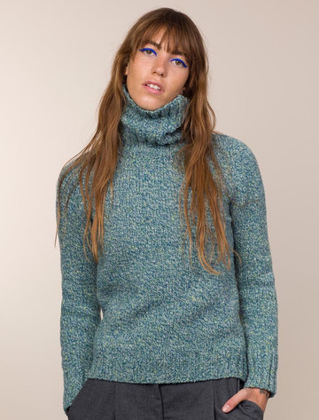 Donegal Turtleneck Sweater - Sea Green