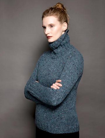 Donegal Turtleneck Sweater - Ink