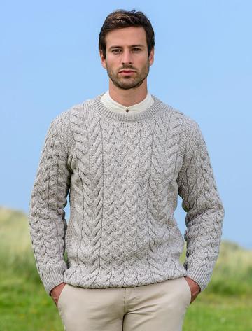 Super Soft Aran Crew Neck Sweater - Toasted Oat