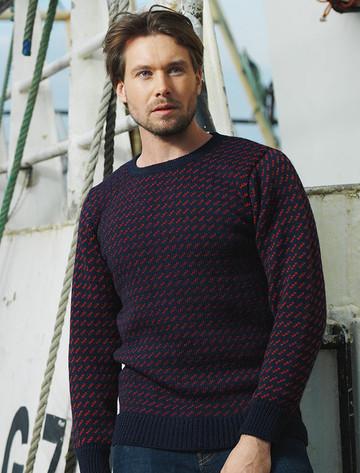 Norwegian Sweater - Navy/Red