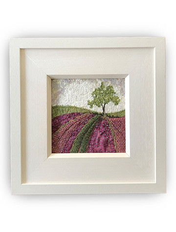 Framed Original Tweed Embroidery - Heatherland - Small