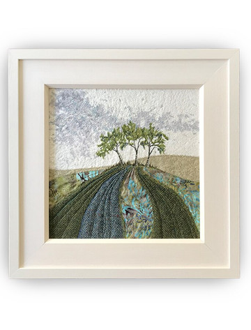 Framed Original Tweed Embroidery - Emerald Hill