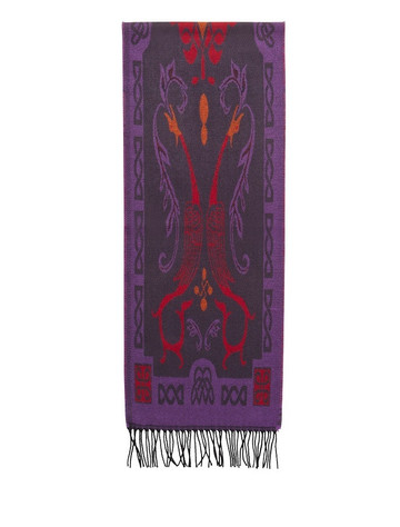 Book Of Kells Celtic Scarf - Purple