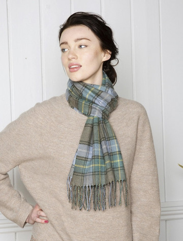 Extra Fine Merino Scarf - Country Plaid