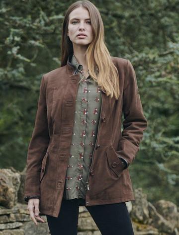 Luxury Joyce Leather Jacket - Walnut
