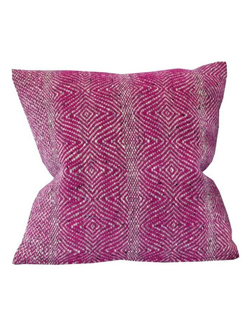 Donegal Tweed Undulating Twill Cushion Cover - Fuchsia