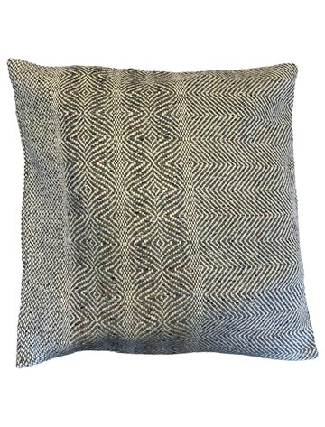 Donegal Tweed Undulating Twill Cushion Cover - Granite