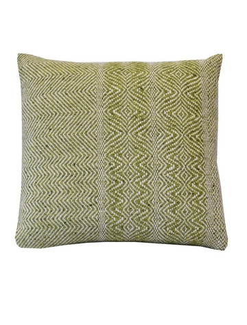 Donegal Tweed Undulating Twill Cushion Cover - Lime