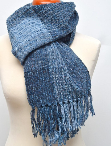 Donegal Tweed Boucle Fringed Stole - Willow