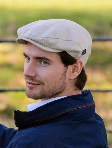 Irish Linen Flat Cap - Natural