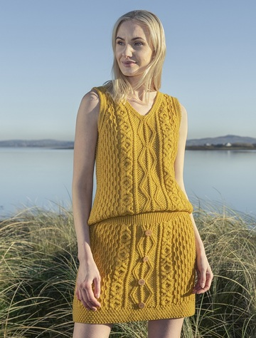 Aran Mini Skirt - Sunflower Yellow