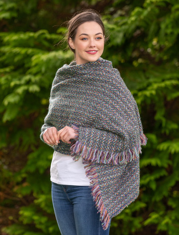 Wool Country Stole - Connemara Loden