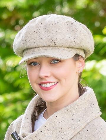 Handmade Ladies Yoko Tweed Hat - Oatmeal