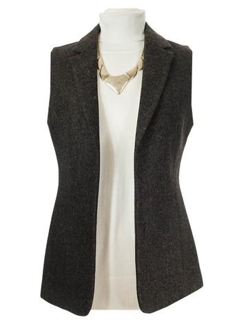 Ladies Irish Brown Tweed Gilet