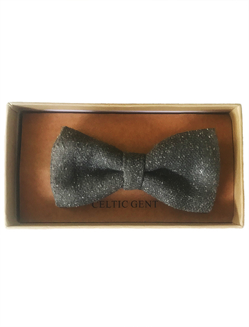 Irish Tweed Bow Tie - Green With Fleck