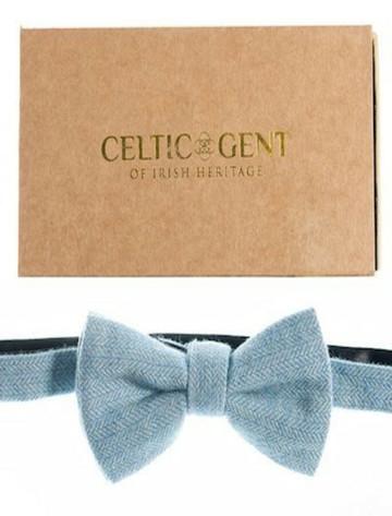 Sky Blue Tweed Bow Tie