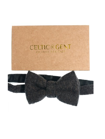 Peat Bog Hopsack Tweed Bow Tie