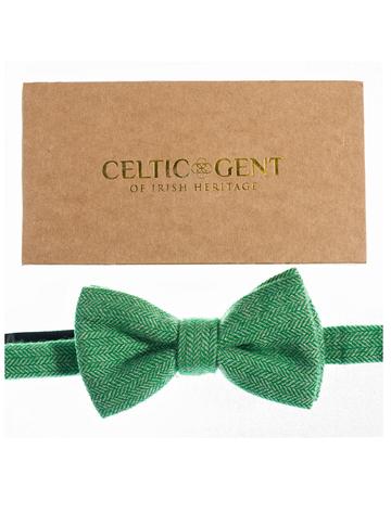 Tweed Bow Tie - Irish Shamrock Green