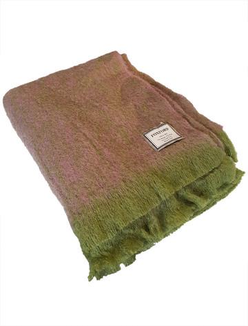 Mohair Throw - Green Purple