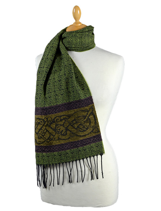 GlenAran Celtic Dogs Pattern Scarf