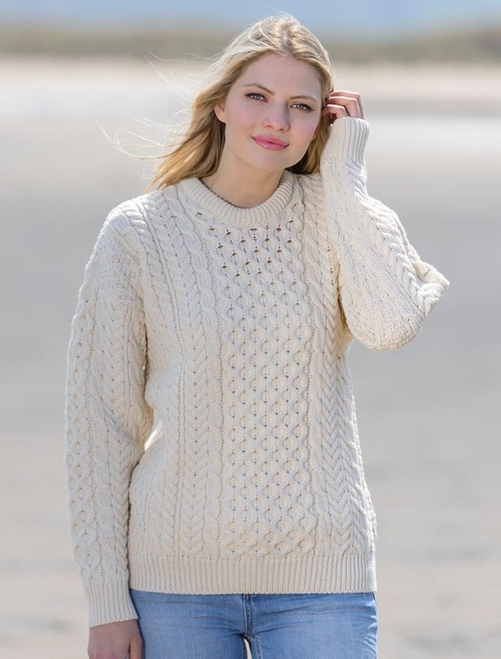 Women's Merino Aran Sweater