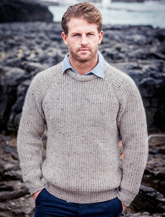 Irish Fishermans Sweater - Skiddaw
