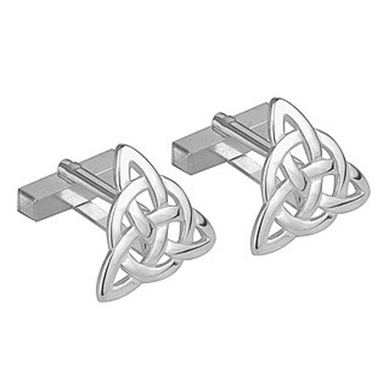 Rhodium Plated Trinity Cufflinks