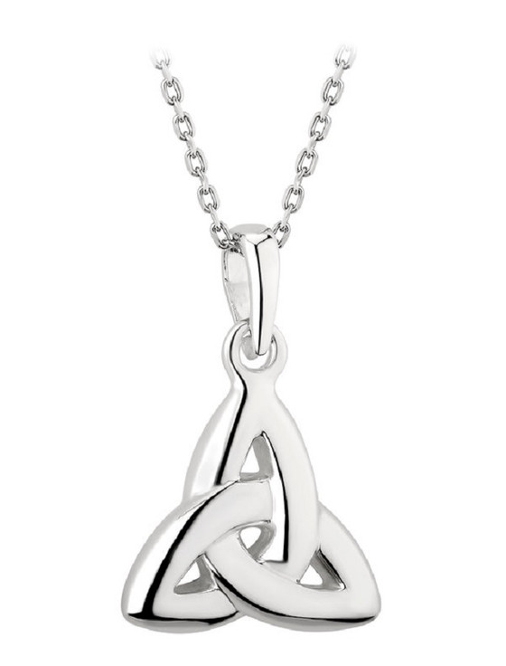 Sterling Silver Double-Sided Trinity Knot Pendant
