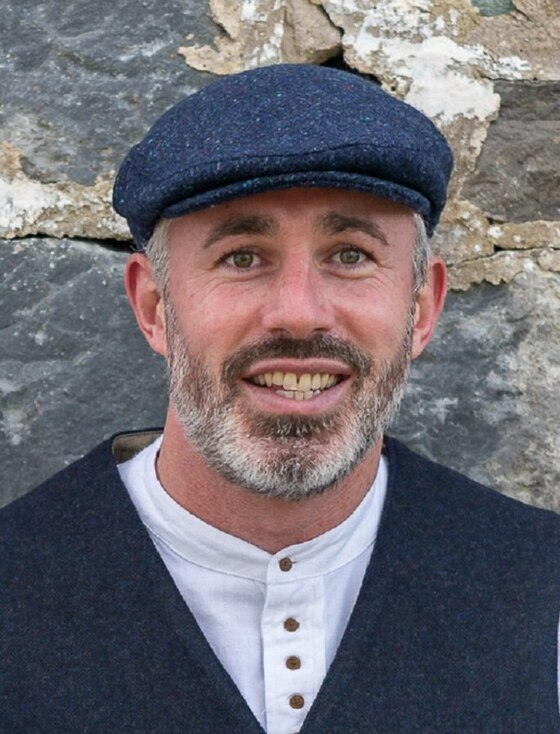 Donegal Tweed Flat Cap - Blue