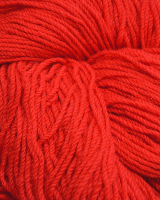Aran Wool Knitting Hanks - Scarlet