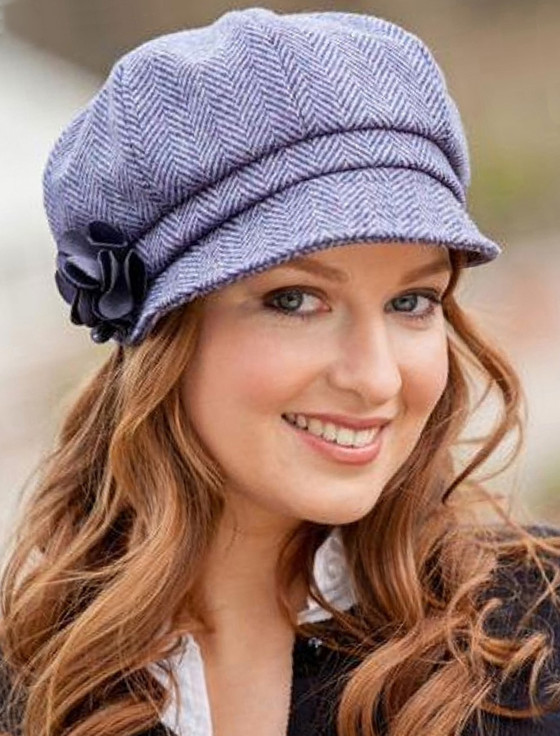 Ladies Tweed Newsboy Hat - Lilac