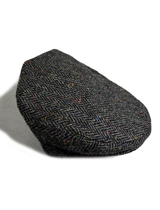 Tweed Flat Cap - Charcoal