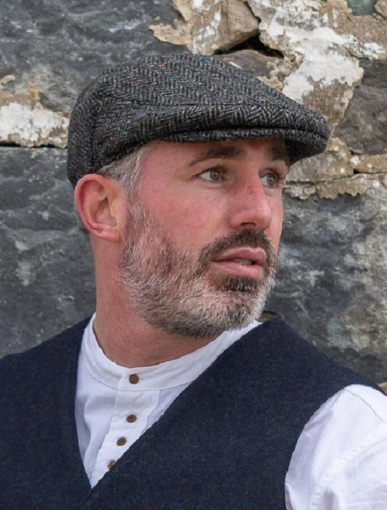 Donegal Tweed Flat Cap - Charcoal