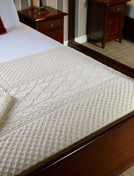 White Clan Aran Throw