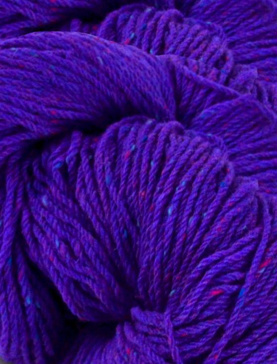Aran Wool Knitting Hanks - Purple Violet